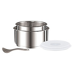 Tefal - Tefal 'Ingenio' Stainless Steel 6pc Saucepan Set