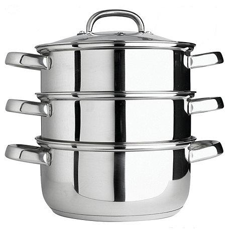 Le Vrai Gourmet - Gourmet stainless steel 24 cm multi level steamer