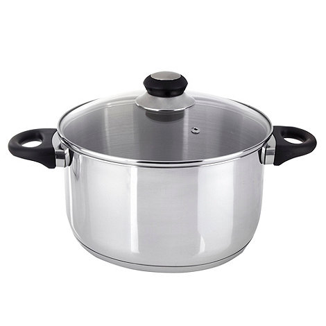 Debenhams - Stainless steel 24cm stockpot