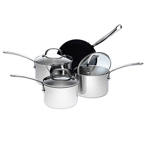 Meyer - Prestige four piece stainless steel +Millenium+ pan set