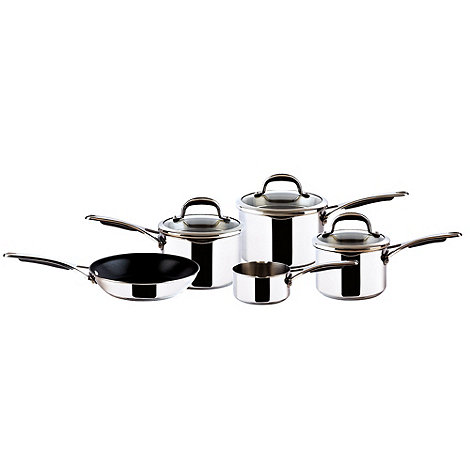Select - Set of five stainless steel pans