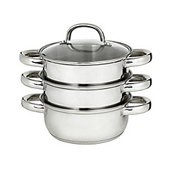Home Collection Basics - Stainless steel 16cm steamer with lid