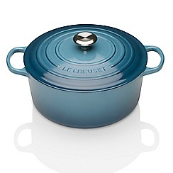 Le Creuset - Marine cast iron 'Signature' 24cm round casserole