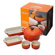 Five piece volcanic kitchen starter set