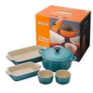 Five piece teal kitchen starter set