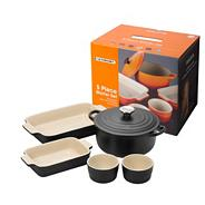 Five piece 'Satin Black' kitchen starter set