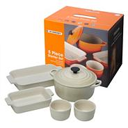 Five piece almond kitchen starter set