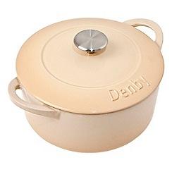 Denby - Cast iron 'Barley' 24cm round casserole dish