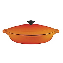 Chasseur - Cast iron flame 30cm round serving casserole dish