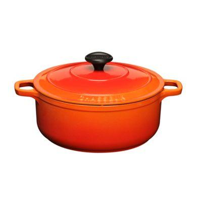 Chasseur Cast iron flame 18cm deep casserole dish - . -