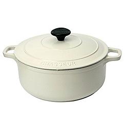 Chasseur - Cast iron meringue satin 24cm deep casserole dish