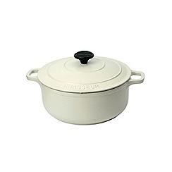 Chasseur - Cast iron meringue satin 26cm deep casserole dish