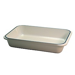 Chasseur - Cast iron meringue satin rectangular roasting dish