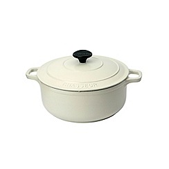 Chasseur - Cast iron meringue satin 28cm deep casserole dish