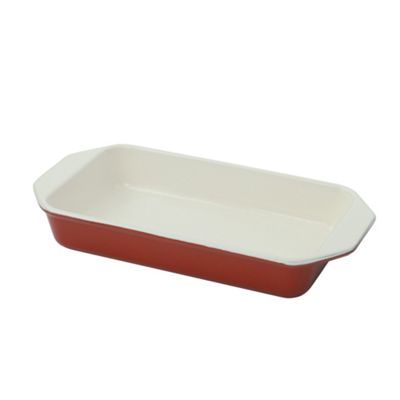 Chasseur Cast iron chilli red rectangular dish - . -