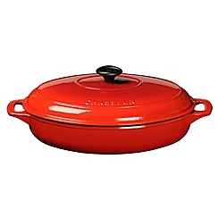 Chasseur - Cast iron chilli red 31cm oval serving casserole dish