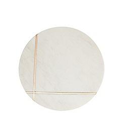 J by Jasper Conran - White marble trivet