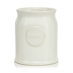 At home with Ashley Thomas - Cream ceramic utensils jar