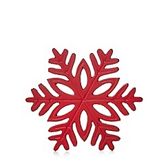 Home Collection - Red snowflake trivet