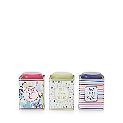 At home with Ashley Thomas - Set of three multi-coloured 'Bloom' tins