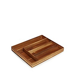 Home Collection - Wooden 'Stockholm Acacia' cutlery tray
