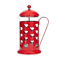 Home Collection - Red heart 8 cup cafetiere