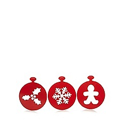Home Collection - Pack of three red stencils