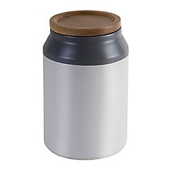 Jamie Oliver - Medium ceramic storage jar with acacia wood lid