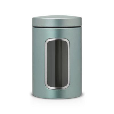 Brabantia 1.4 liter green window canister - . -