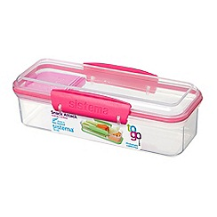 Sistema - 'The Snack Attack To Go' lunch box 410ml