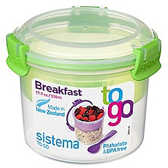 Sistema - 'Breakfast To Go' lunch box 530ml