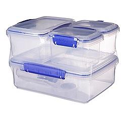 Sistema - Storage box set 6-pack (2 x200ml, 2x400ml, 1x1L, 1x2L)