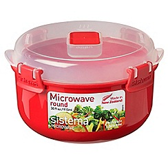 Sistema - Red polypropylene microwave round box