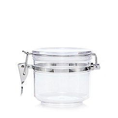 Home Collection - Plastic 0.5 litre clip top storage jar