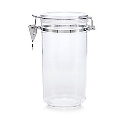 Home Collection - Plastic 1.1 litre clip top storage jar