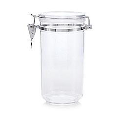 Home Collection - Plastic 1.1 litre clip top storage jar