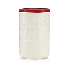 Ben de Lisi Home - Red debossed biscuit jar
