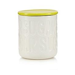 Ben de Lisi Home - Lime debossed sugar jar