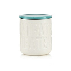 Ben de Lisi Home - Turquoise debossed tea jar