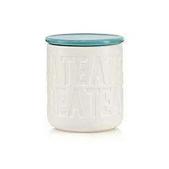 Ben de Lisi Home - Turquoise debossed tea jar
