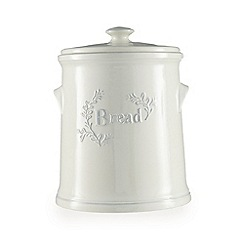 Debenhams - Cream ceramic embossed bread bin