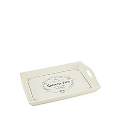 Debenhams - Cream wood tray