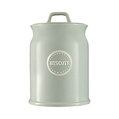 At home with Ashley Thomas - Pale green biscuit jar