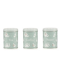 At home with Ashley Thomas - Set of three duck print storage tins