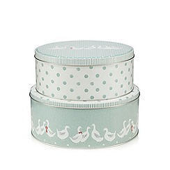 At home with Ashley Thomas - Set of two duck print cake tins