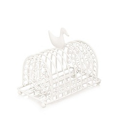 At home with Ashley Thomas - Cream duck wire toast rack