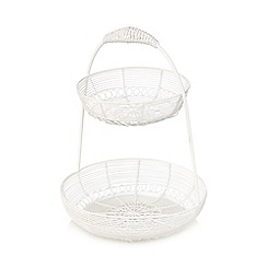 At home with Ashley Thomas - Cream duck wire egg basket