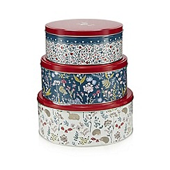 At home with Ashley Thomas - Set of three wood print tins