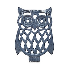 At home with Ashley Thomas - Dark blue owl trivet