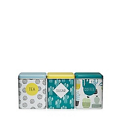 Ben de Lisi Home - Set of three cactus print tins